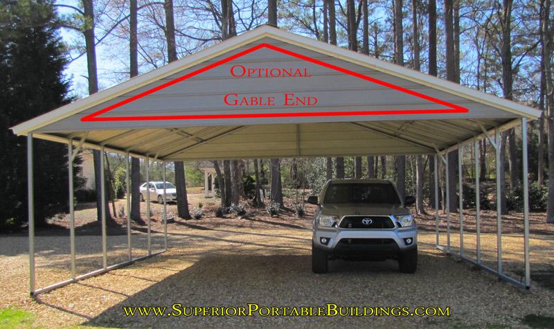 Open End Gable Carports : Carport colors sizes and information