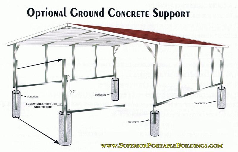 Metal Carport Sizes : Carport colors sizes and information