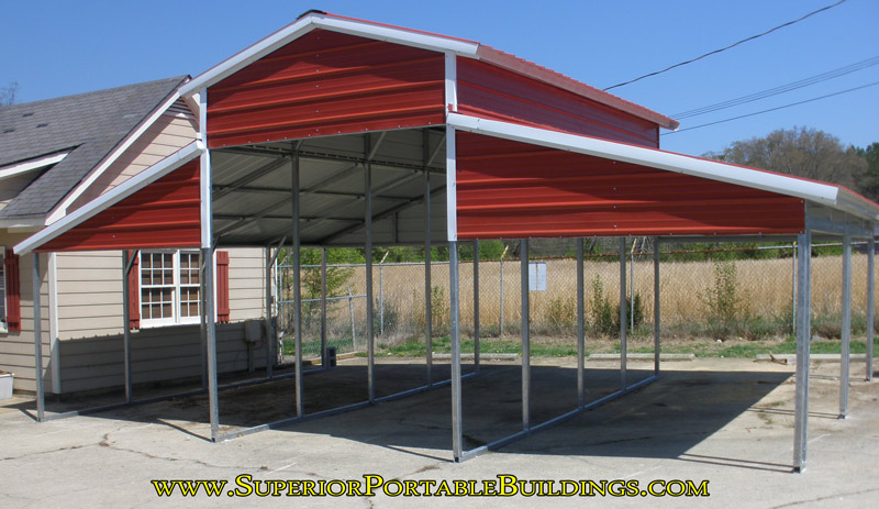 Carport with lean to sides