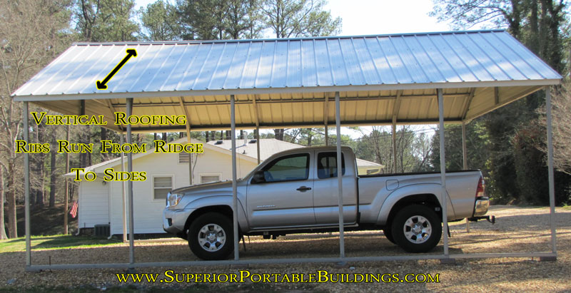 Vertical Roof Carports : Carport colors sizes and information