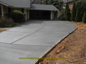 Replace your old asphalt driveway with concrete.