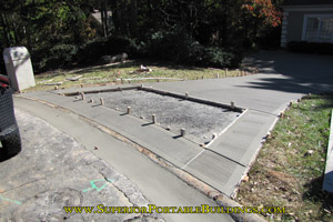 Concrete driveway replacement project 4