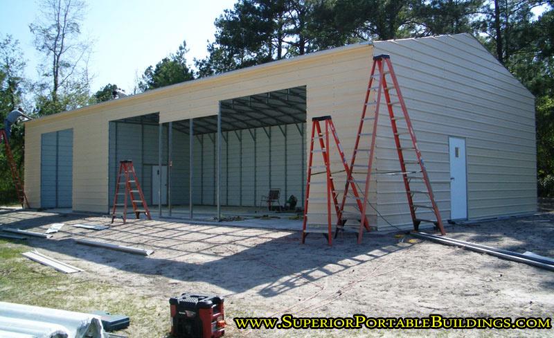 30 x 60 steel car garage vg 13 866 943 2264 for Garage ad gap