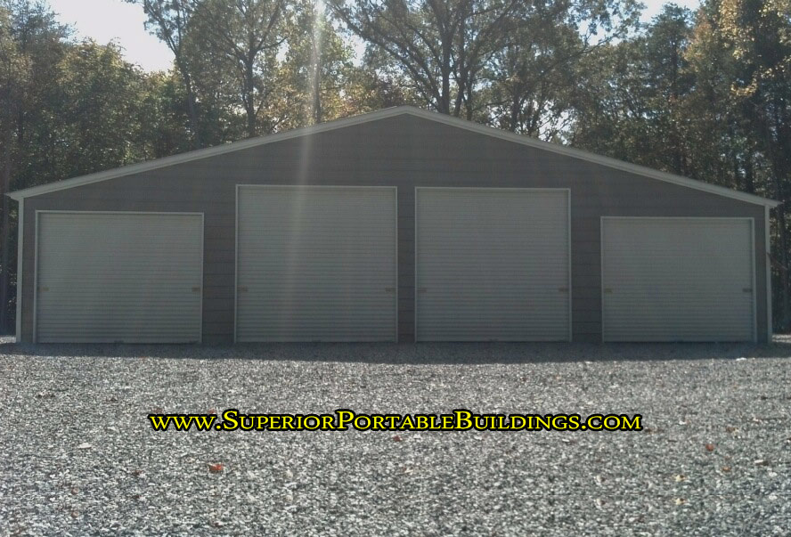 4 door steel garage